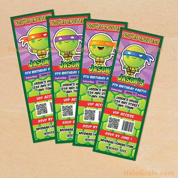 Teenage mutant ninja turtles inspired ticket invitations printable teenage mutant ninja turtles inspired ticket invitations printable diy file on etsy 1000 filmwisefo