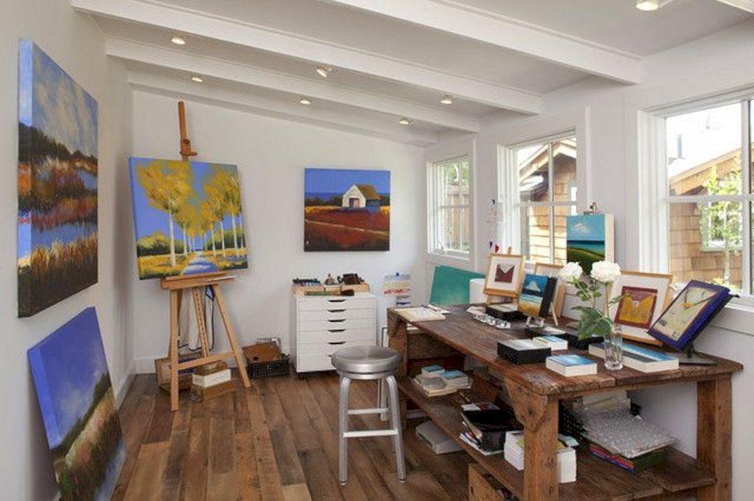 5 Stunning Art Studio Design Ideas For Small Spaces Freshouz Com Art Studio Design Art Studio At Home Art Studio Decor