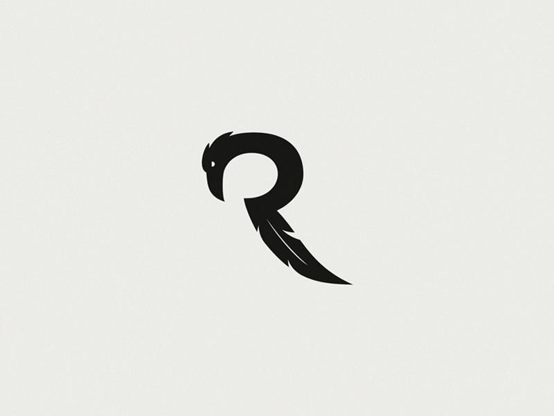 Raven Letter R Unused Logo Letter R Lettering Logo Design