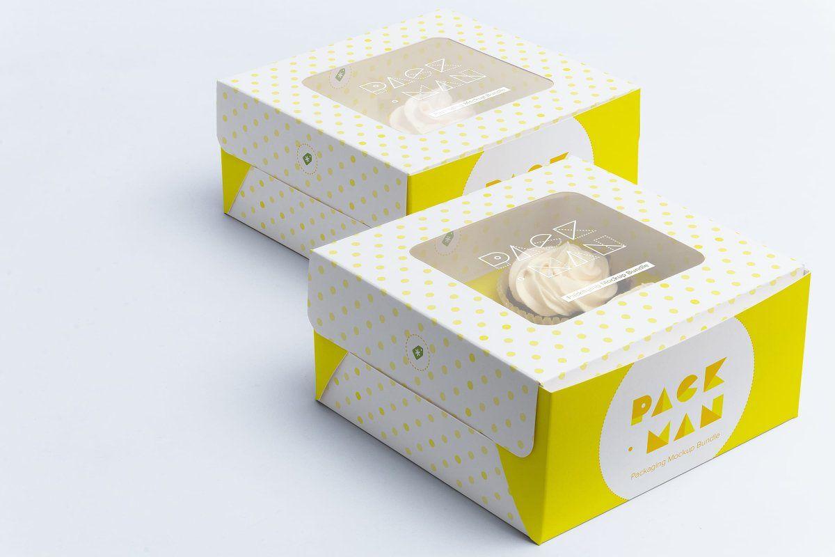 Download Six Cupcake Box Mockup 02 Box Mockup Free Psd Mockups Templates Mockup Free Psd
