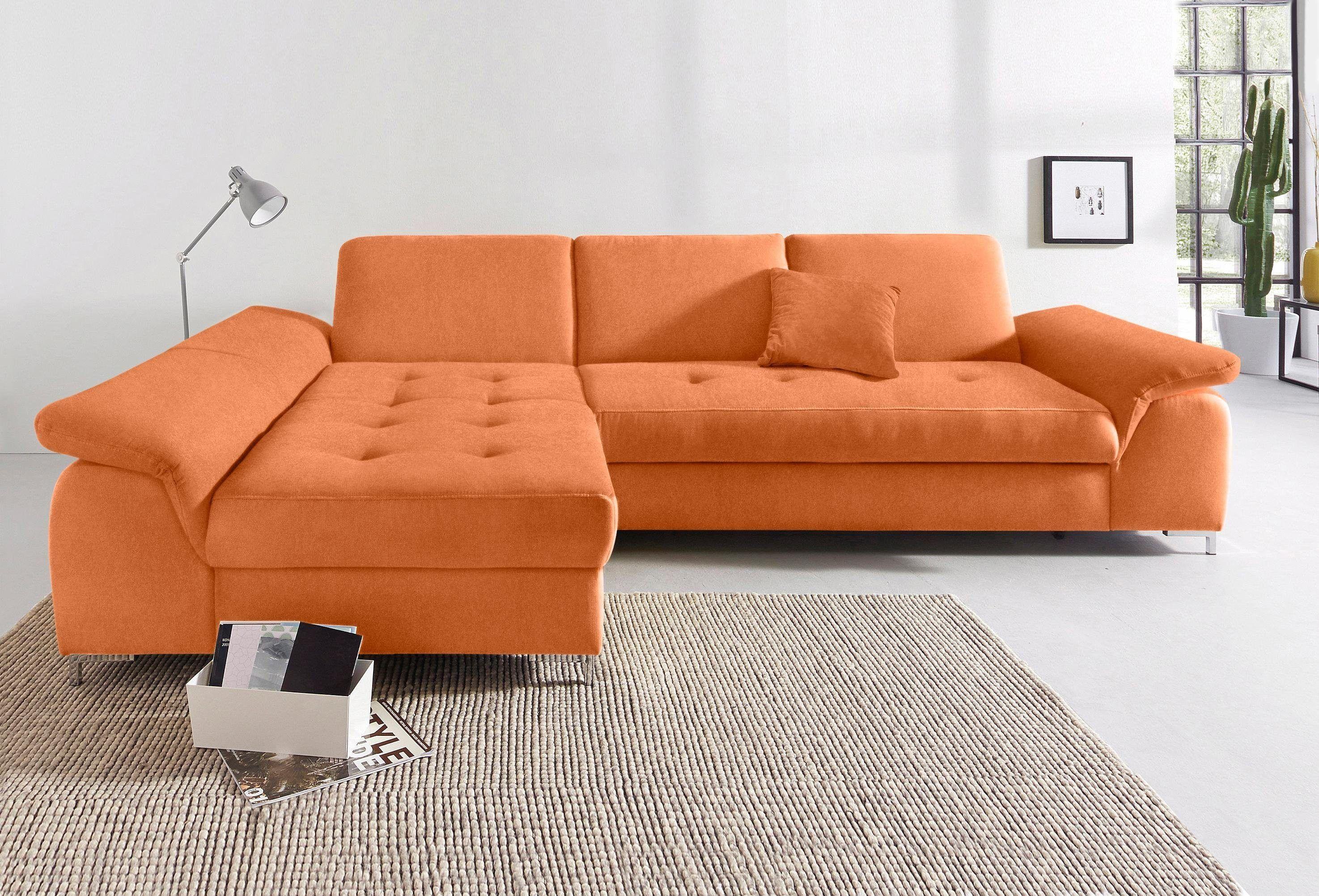 Polsterecke orange, Recamiere links, FSC®-zertifiziert, yourhome ...