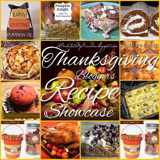 Fall Bloggers Showcase ~ Thanksgiving Recipes RoundUp PLUS Blog Hop!