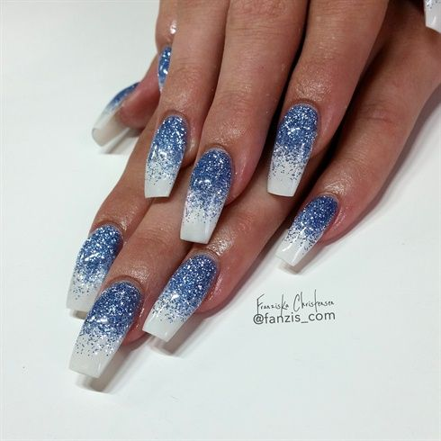 Blue White Glitter Fade By Fanzis Com From Nail Art Gallery Nails Ombre Nails Nail Designs