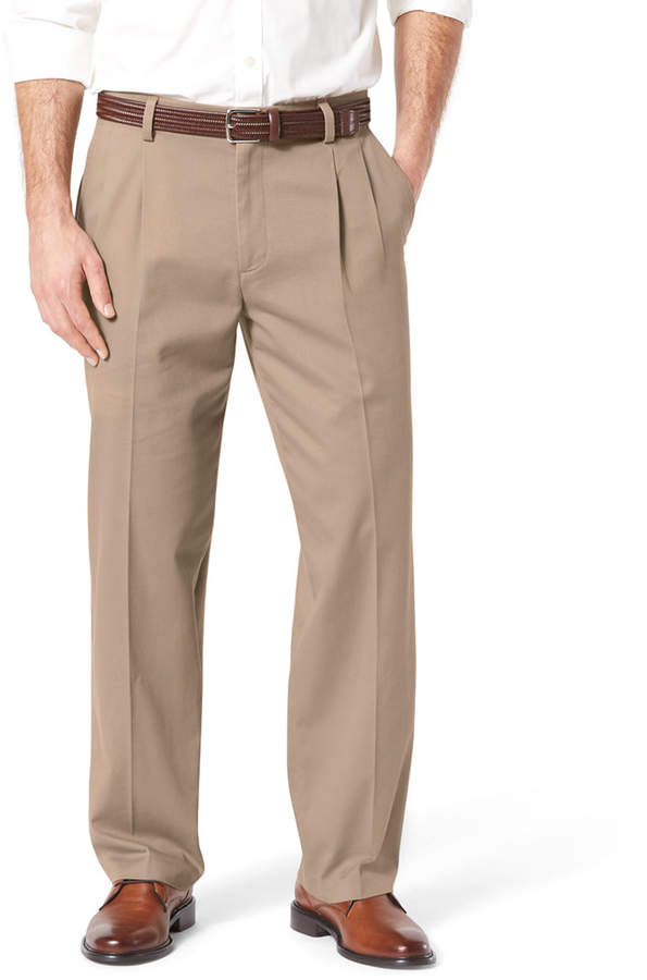 b9f1606f29 Dockers Men s Stretch Easy Khaki D4 Relaxed-Fit Pleated Pants ...