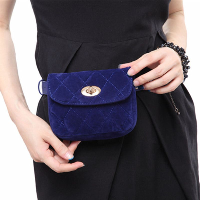 Fashion Waist Fanny Pack Belt Bag Pouch Velvet Lock Bag Travel Hip ...