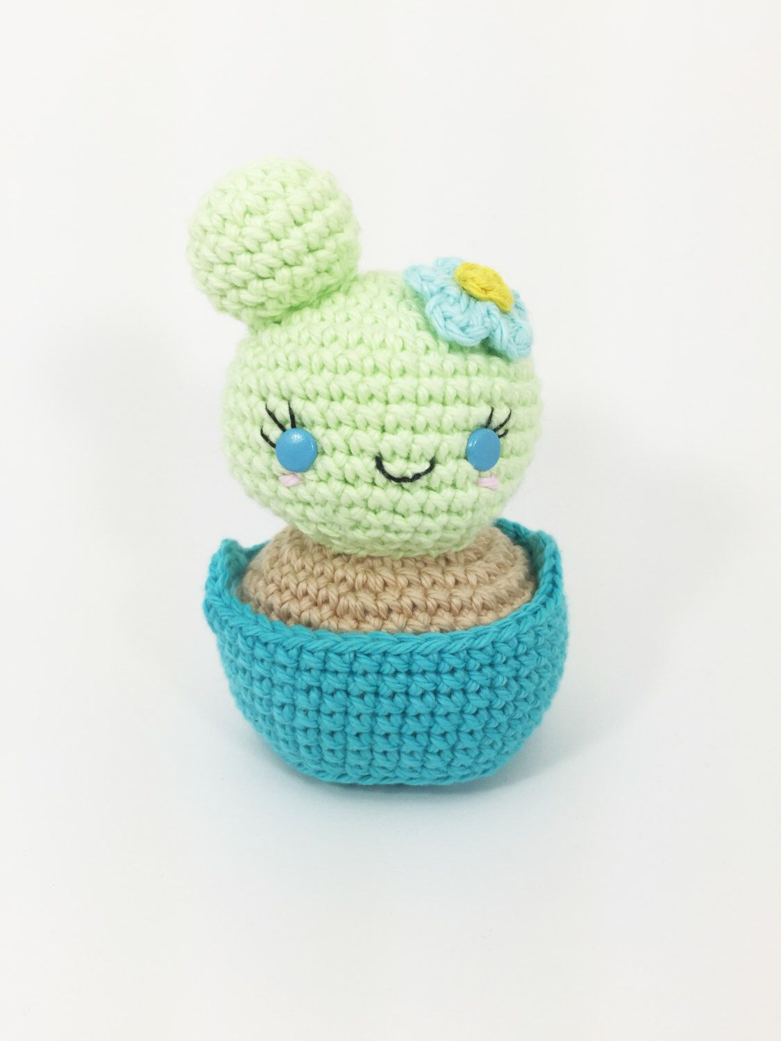 Crocheted Cactus, Crochet Plant, Crochet Home Decor, Kawaii Decor, Crochet Nursery, Crochet Southwestern, Amigurumi Cactus, Crochet Pastel by MossyMaze on Etsy https://www.etsy.com/listing/232526185/crocheted-cactus-crochet-plant-crochet