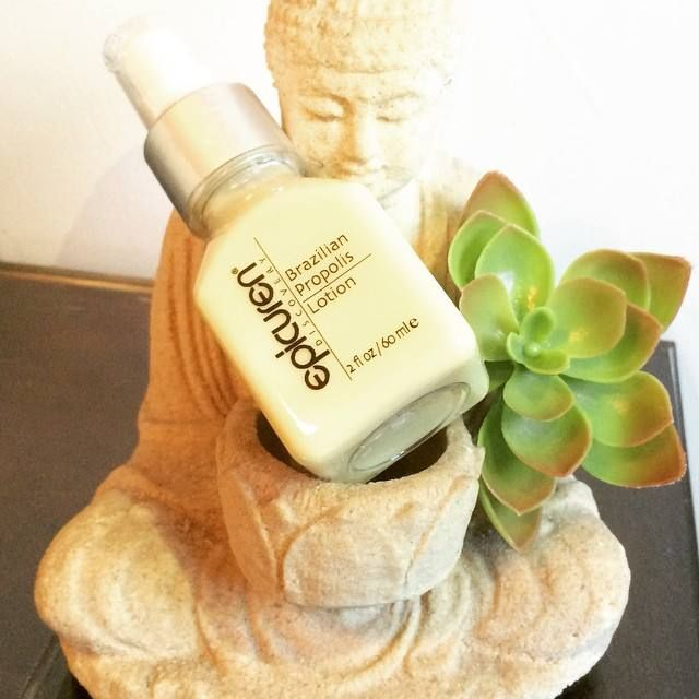 """""""Epicuren Brazilian Propolis Lotion: An everyday, lightweight lotion that is rich in vitamins, minerals and amino acids to help boost your skin's immune and healing function while combating congestion in your skin"""" - Colleen Elizabeth Salon And Spa. Get yours today! http://bit.ly/1wtXseb"""