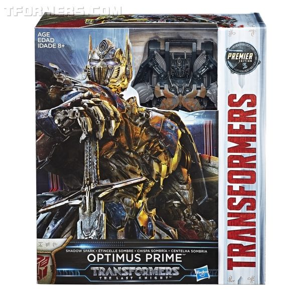 Offiical Images The Last Knight Premier Edition Leader Shadow Spark Optimus Prime