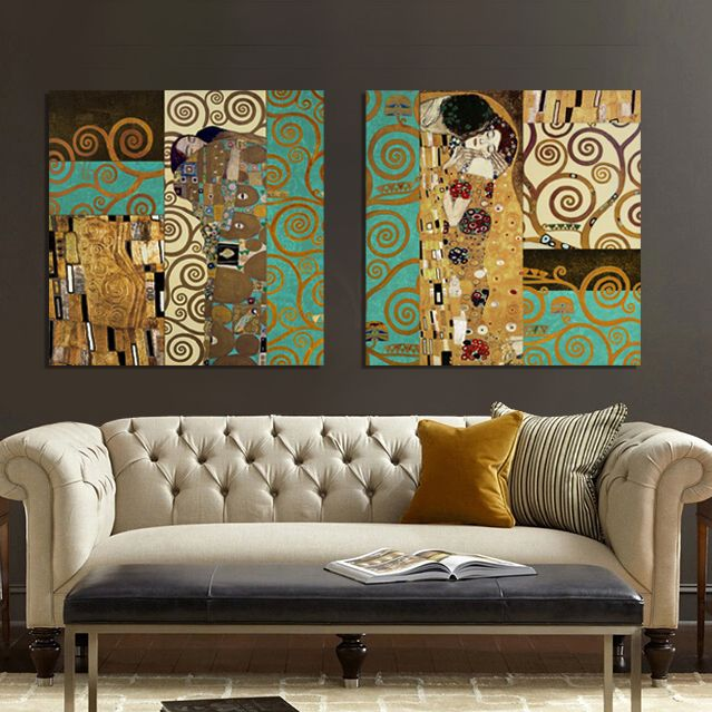 e24f8b49774 Artists Gustav Klimt The Kiss and The Tree of Life The new design  masterpieces form Canvas Art Painting home Wall decor-in Painting    Calligraphy from Home ...