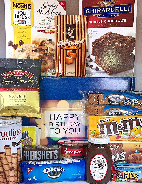 Chocolate lovers birthday gift box basket approx 6 lbs