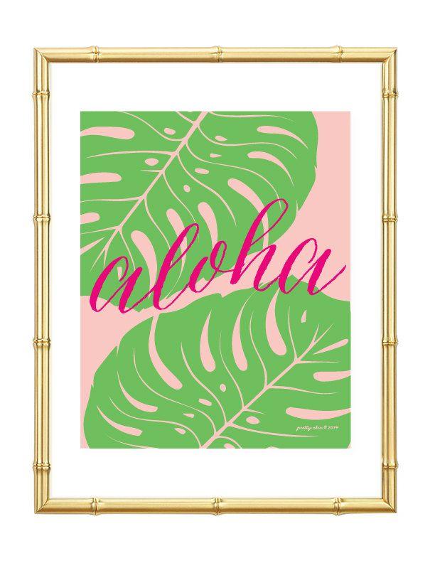 Tropical Art for your Summer Bar Cart