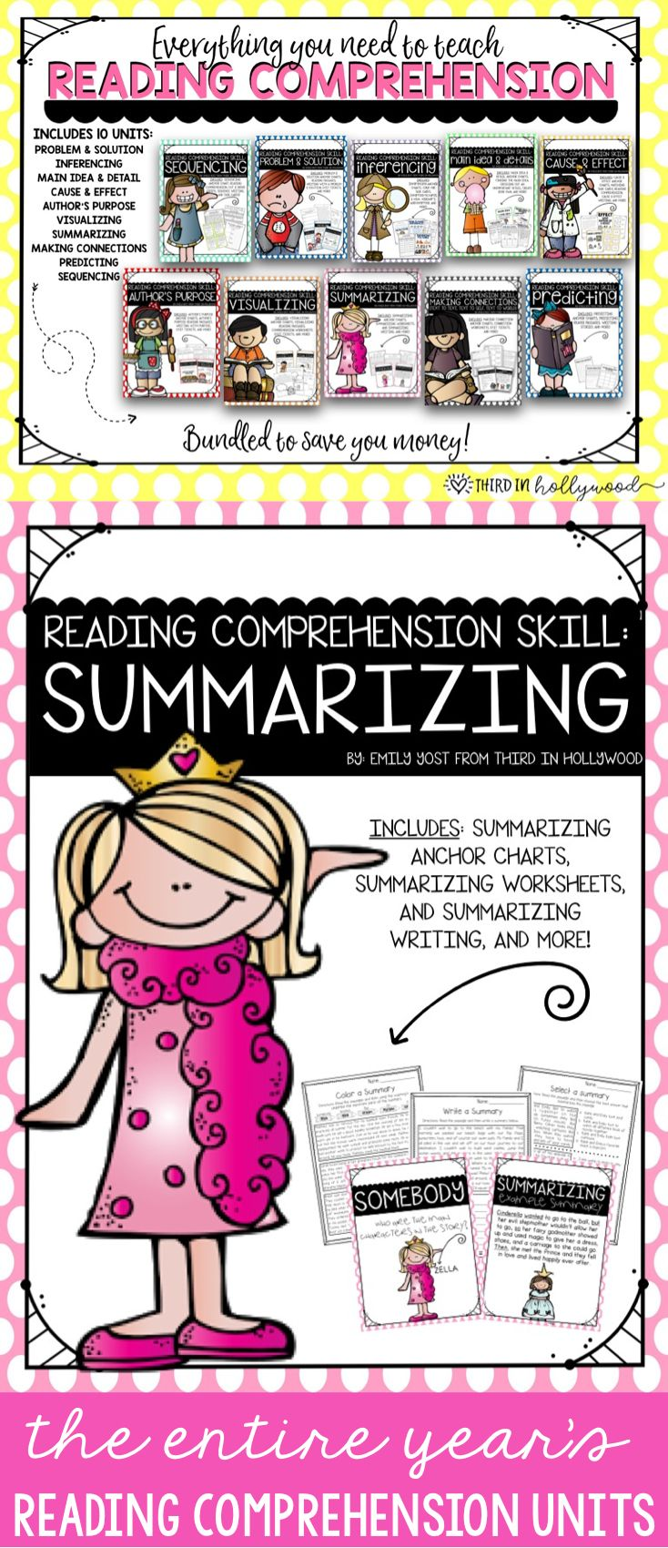 Reading Comprehension Skills-- BUNDLED | Student-centered ...
