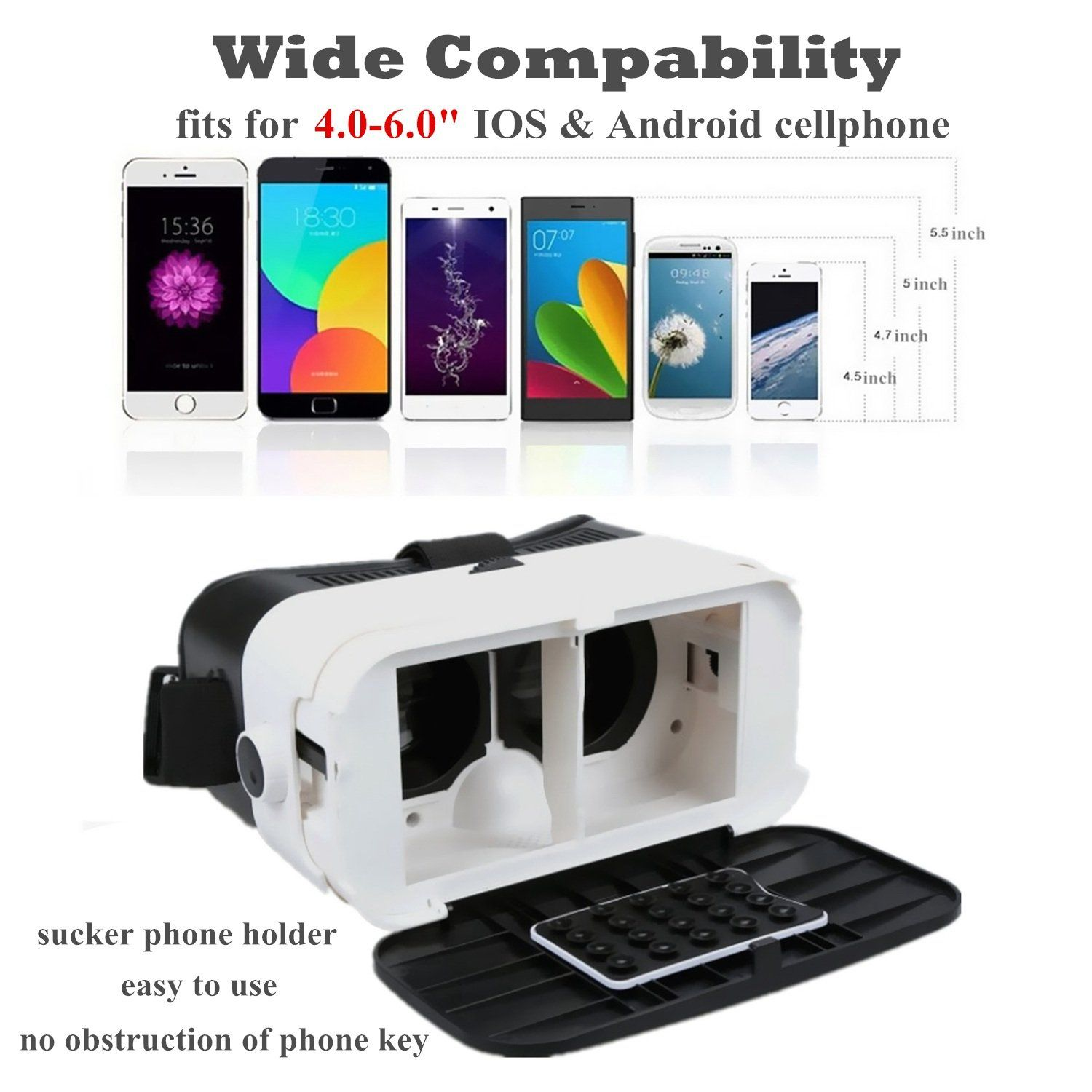 Virtual Reality Headset 3D VR Glasses with Remote