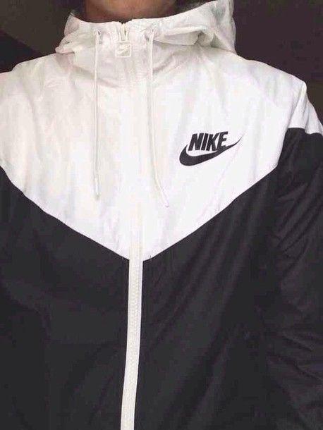 Nike Veste De Coureur Noir Et Blanc