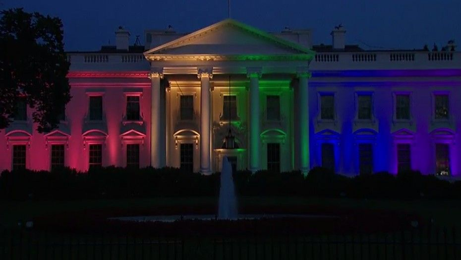 The White House Is Decked Out in Rainbow Colors to Celebrate Gay Marriage - NationalJournal.com