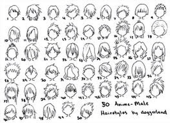 50 Male Anime Hairstyles How To Draw Hair Anime Hairstyles Male Chibi Hair