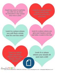 Valentine S Day Clues Hunt Grandkid Ideas Pinterest