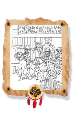Kleurplaat Playmobil Western Cowboyfeestje Pinterest Playmobil