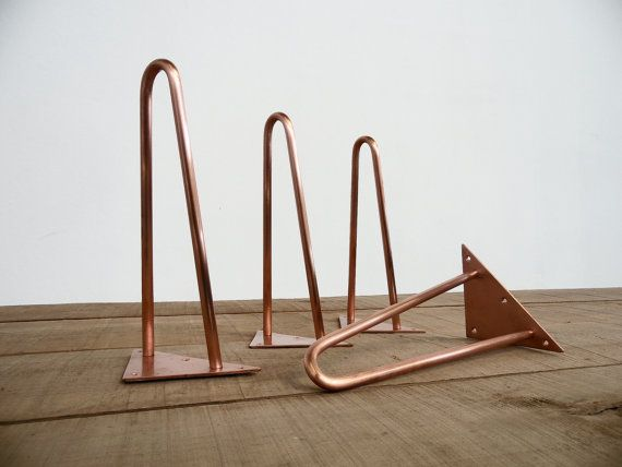 Multi Metal Hairpin Coffee Table Legs 16  Hairpin Table Legs Height 12-16 Set 4