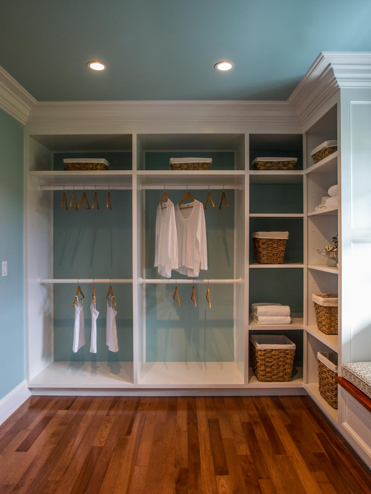 Hgtv Dream Home 2015 Master Closet: Nice, Except For What Most Closets Seem To Be Missing...a Spot To Hang Long Skirts, Maxi Dresses