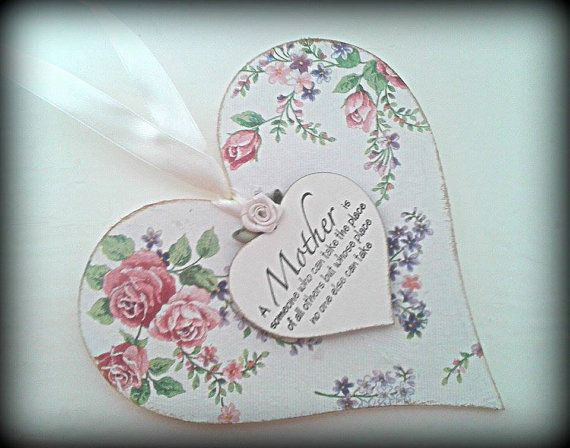 Mother Love Heart with Mother quote  small by handmadebydebmac