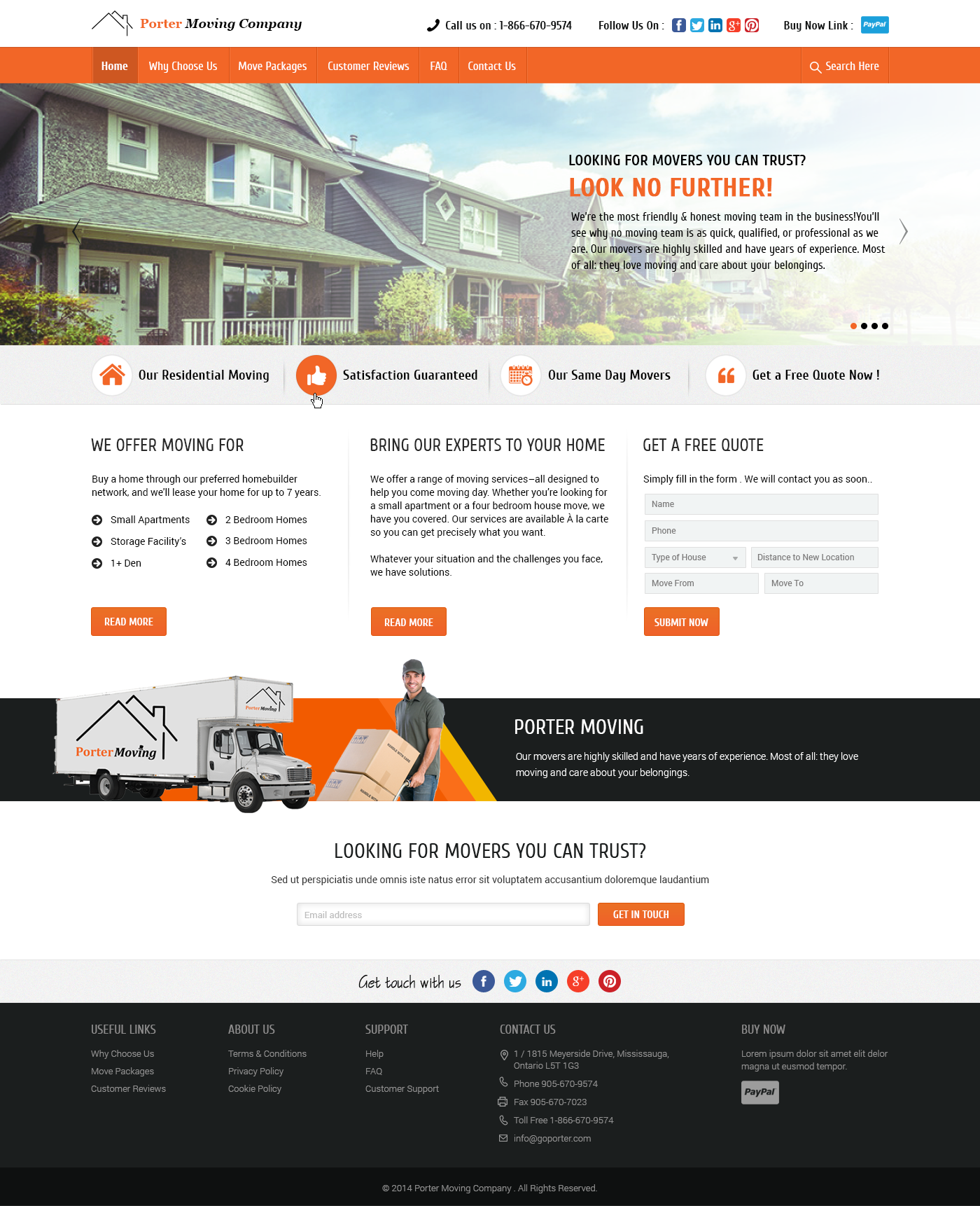 The Website Has Been Designed For A Packing And Moving Service Provider The Company Offers Local And Long Distance Re Fun Website Design Website Design Design