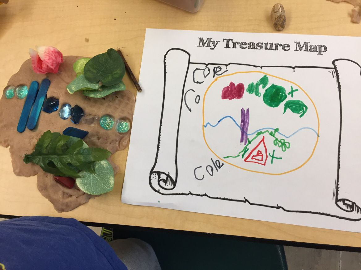 Playdough Provocations Treasure Maps