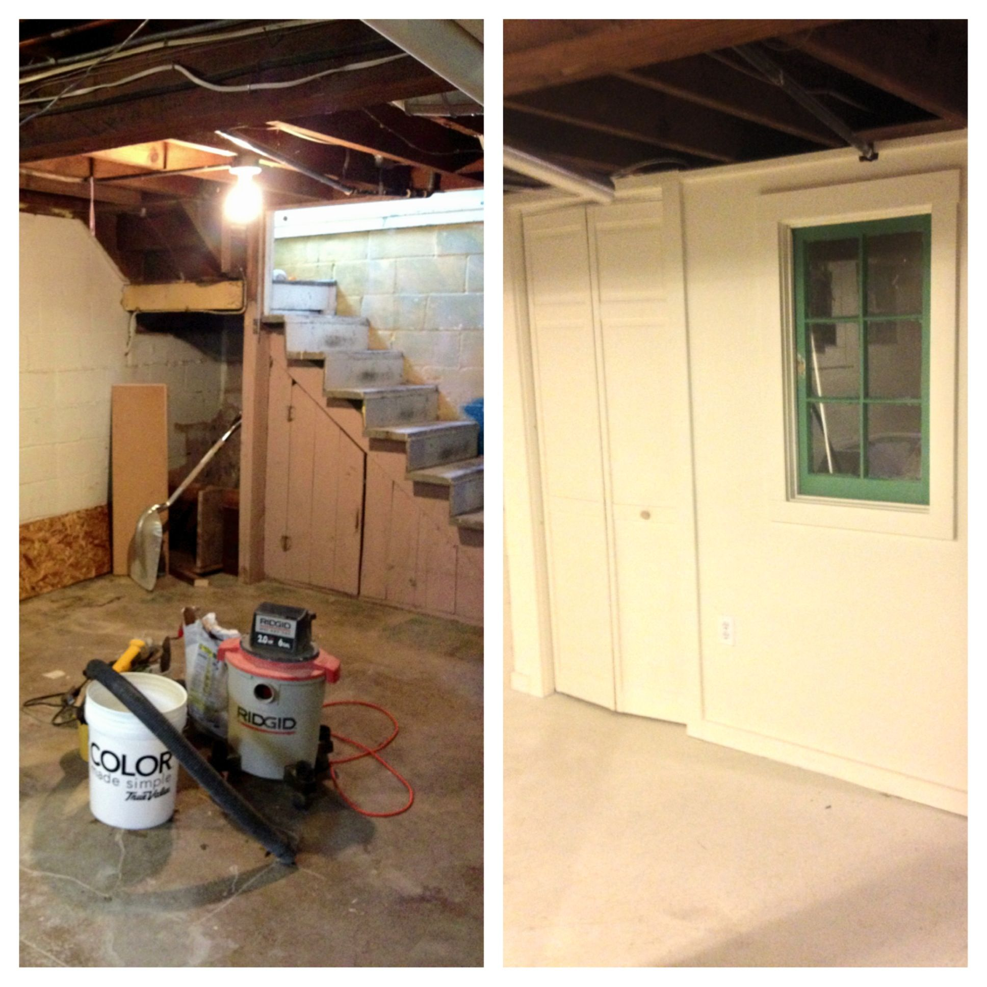 One More Pic! Bungalow Basement Before And After