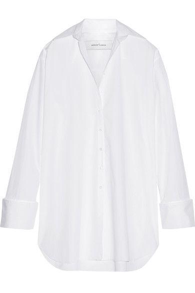 Marques' Almeida - Oversized Cotton-poplin Shirt Dress - White - x small