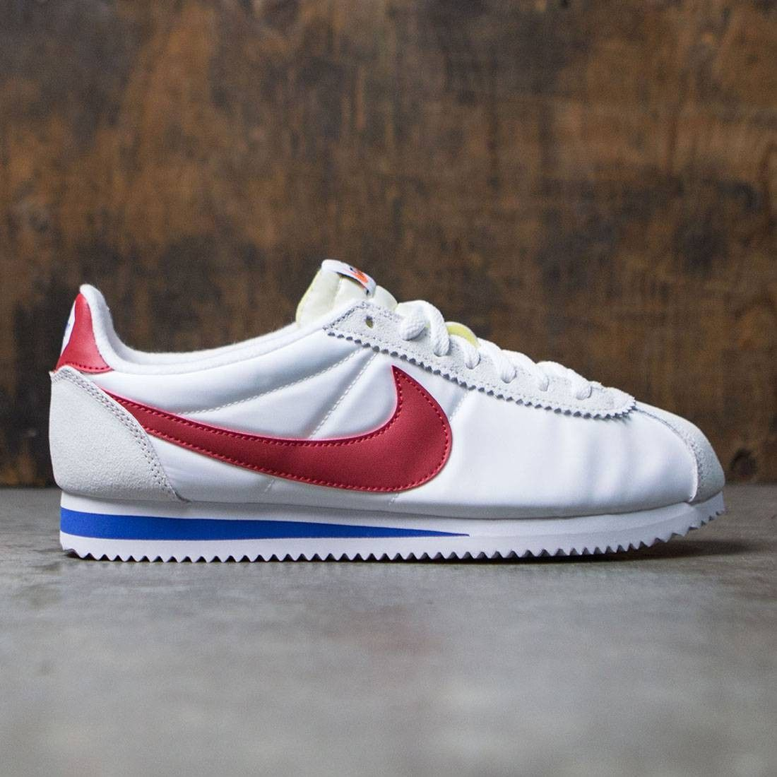 Nike Men Classic Cortez Nylon Prem Qs (white / varsity red-varsity royal)