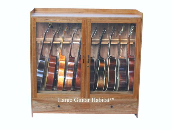 Large Guitar Habitat Humidified Guitar Cabinet American Music Furniture Co Llc Music Furniture Guitar Display Case Guitar Display