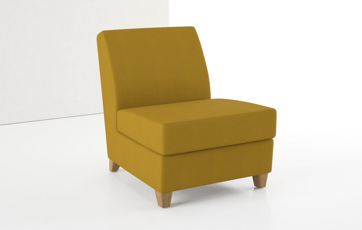 Superb Nina Two Armless Lounge Chair, Wood Legs   Élan By Decca