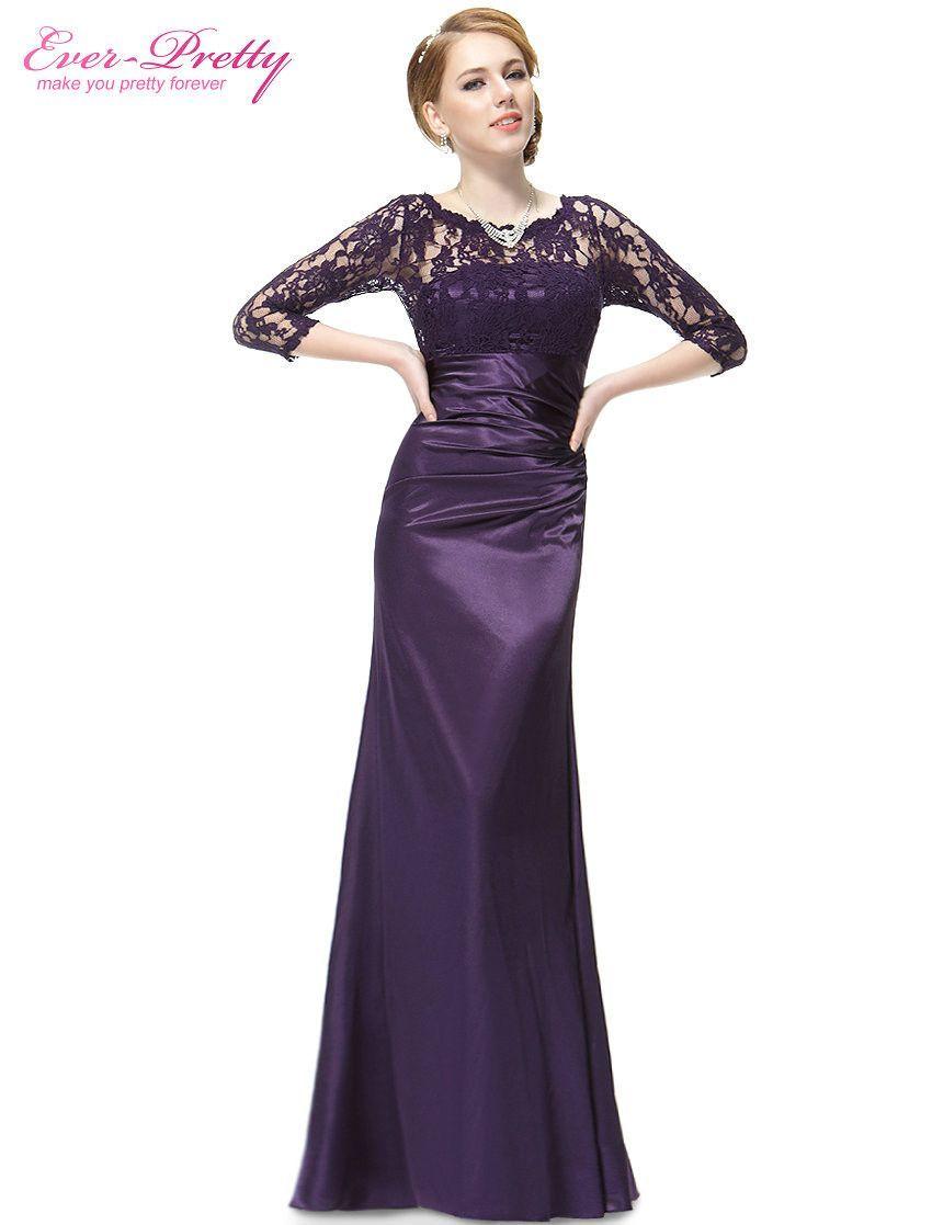 Elegant long sleeve lace womenus long black evening dress formal