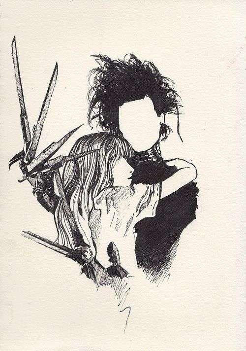 Edward Scissorhands - Tim Burton.  More Noah inspired artwork.