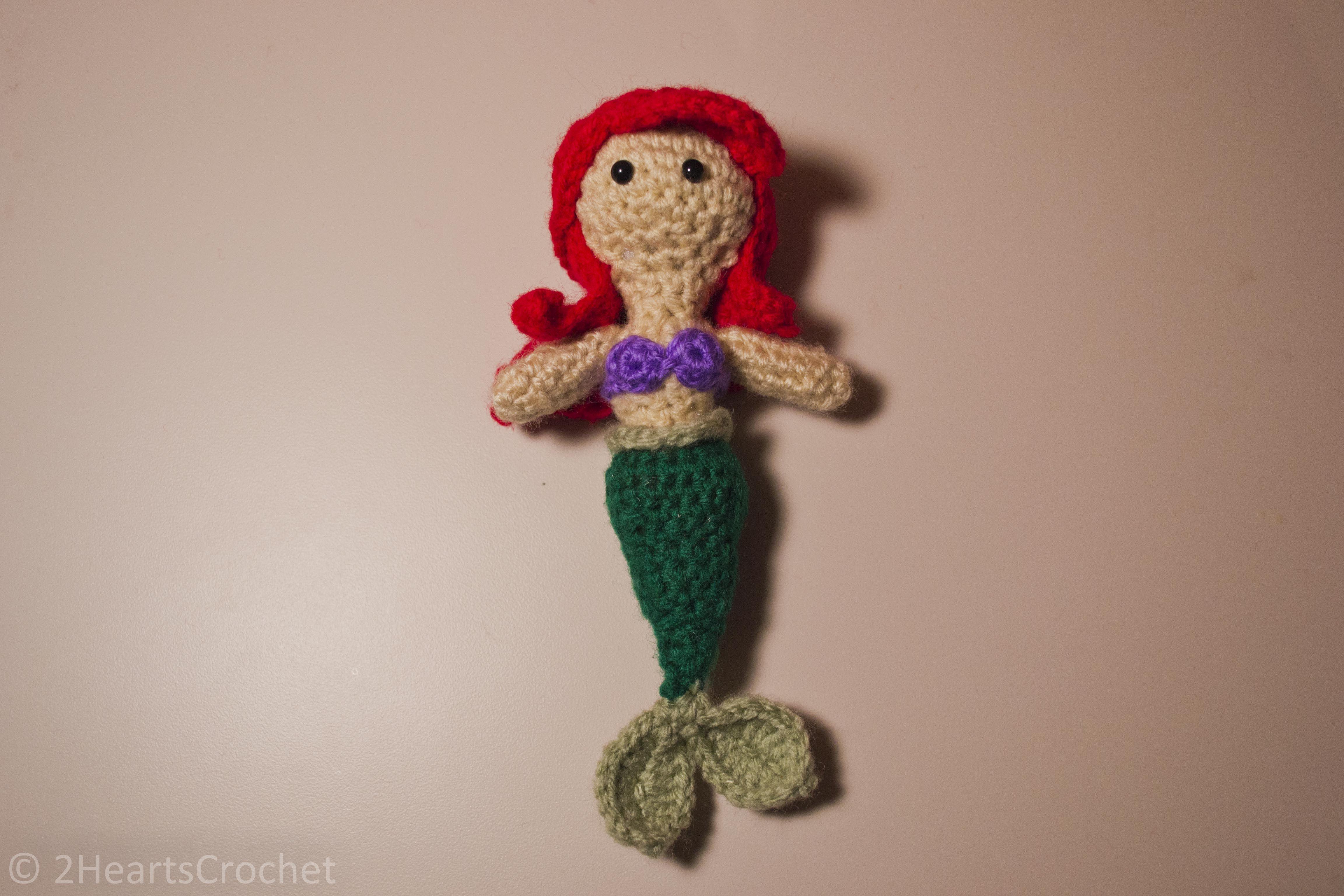 Free Amigurumi Mermaid Patterns : Princess pattern ariel little mermaid amigurumi u mermaid