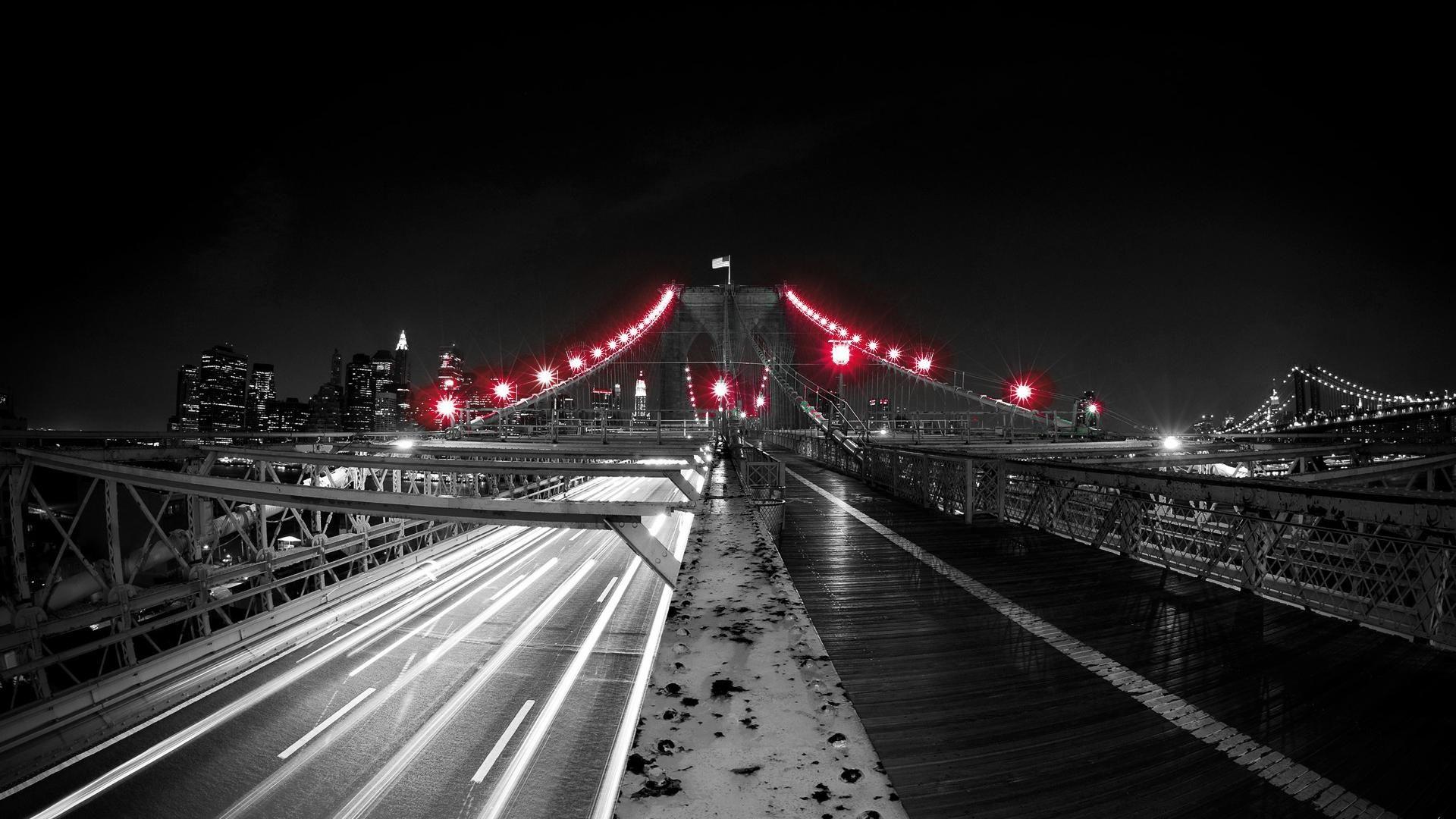 Red Black And White Black Red Light Bridge White Up Net