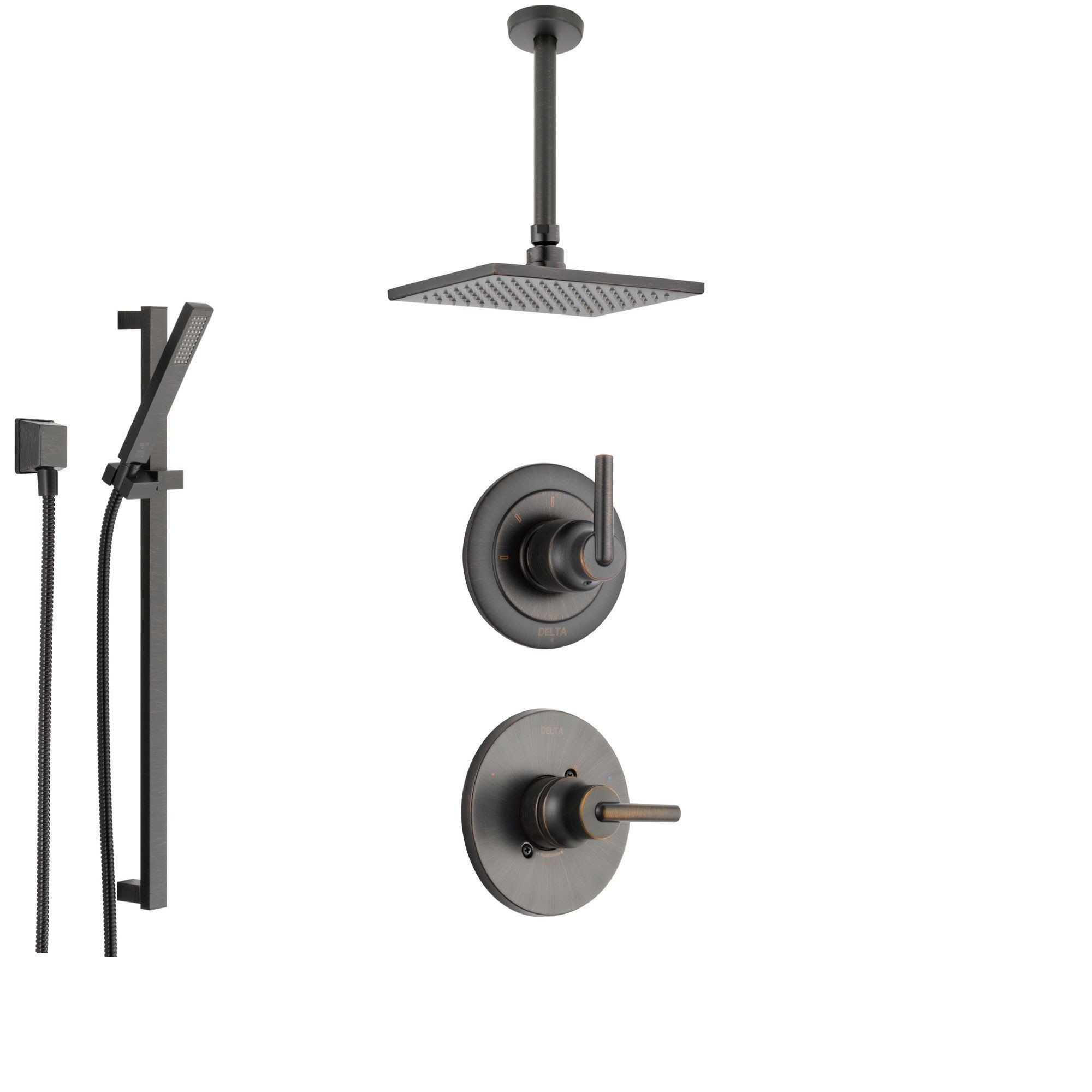 Delta Trinsic Venetian Bronze Shower System With Normal Shower
