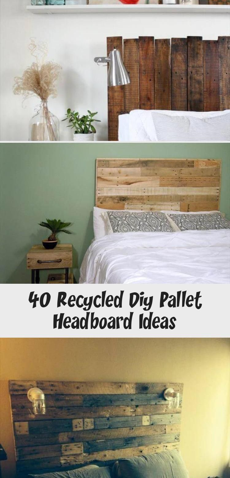 40 Recycled Diy Pallet Headboard Ideas - Home Decor Diy #palletheadboards