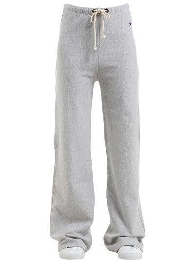 9b79f1da9d50 CHAMPION Oversize Cotton French Terry Sweatpants