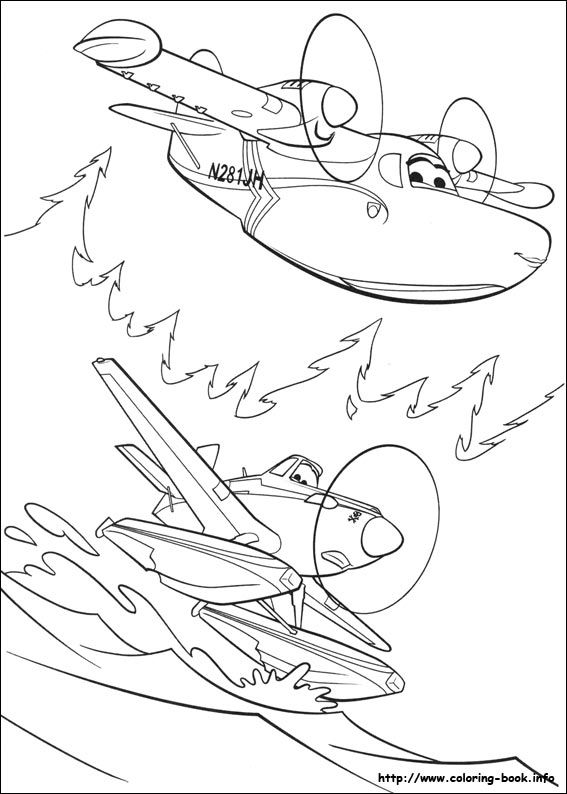 planes fire rescue coloring picture