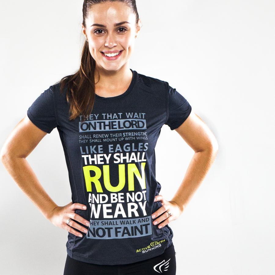Active Faith Running Apparel - Ladies' Easy Dri Running Shirt