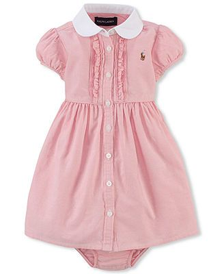 af021ab4 Polo Ralph Lauren Baby Girls' Oxford Dress | Oh baby baby! | Dresses ...