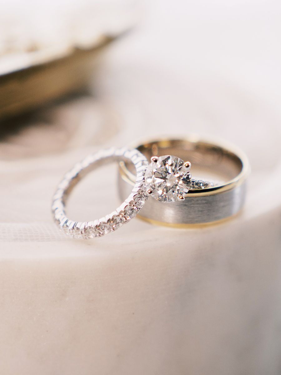 Glamorous Blush And White Floral Los Angeles Wedding At The Vibiana Modwedding In 2020 Beautiful Wedding Rings Wedding Rings Engagement Wedding Ring Bands