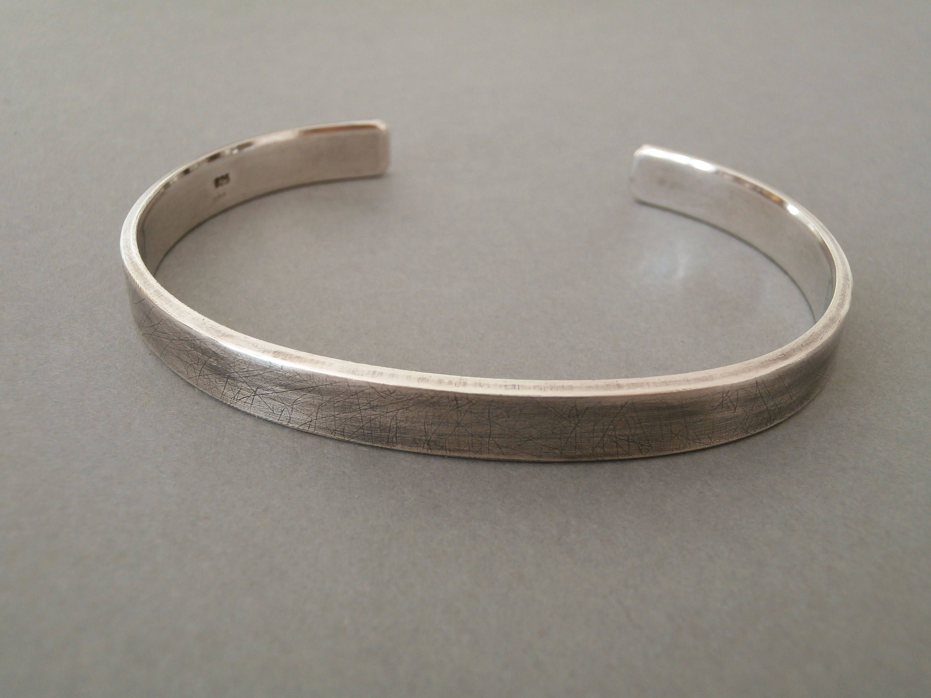 solid bangle profile bracelets plain hammered pin bangles bracelet sterling oval silver