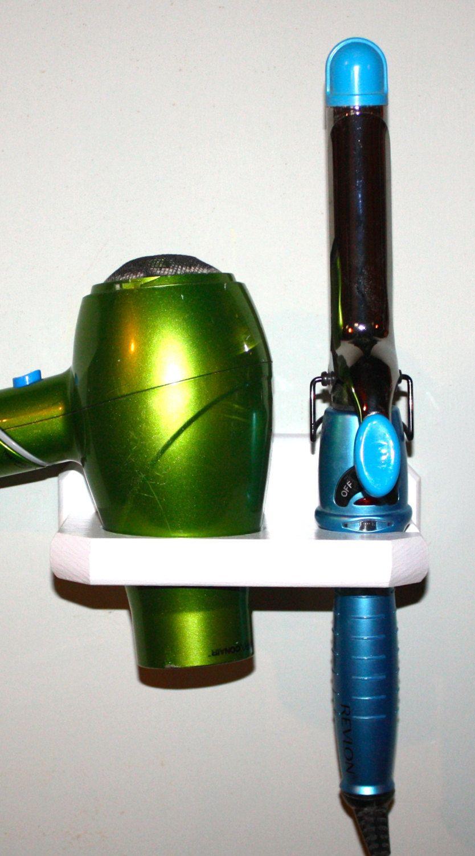 Dorm Hair Dryer Holder Bathroom Organizer Curling Iron Brush Room Bedroom Storage Dc S By Northwoodscrafts On Etsy