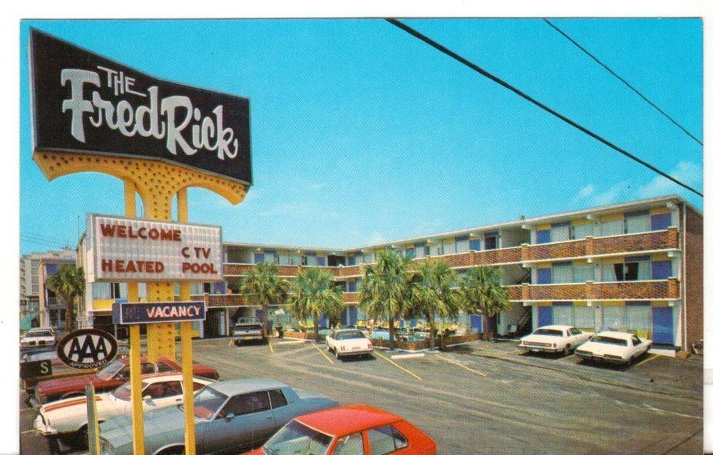Undated Unused Postcard The Fredrick Motel Myrtle Beach South Carolina Sc Myrtle Beach South Carolina Myrtle Beach Postcard