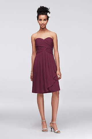 David\'s Bridal Wine color | Bridesmaid Dresses | Pinterest