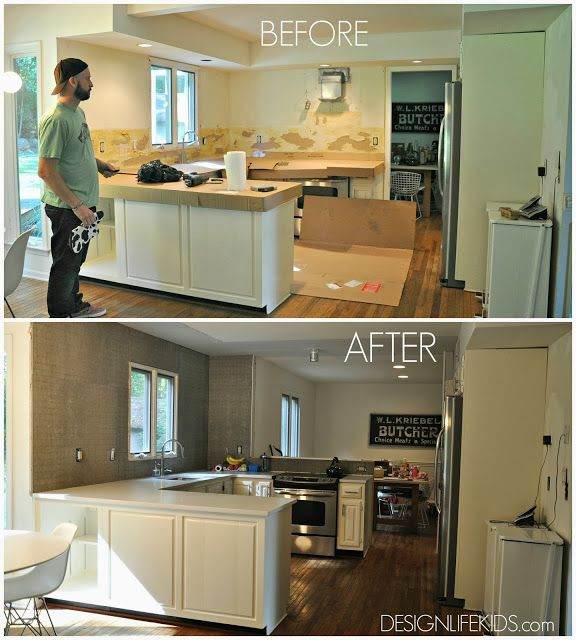 White Kitchen Remodels Before And After: Creating A Bright White Open Concept Kitchen. Before And