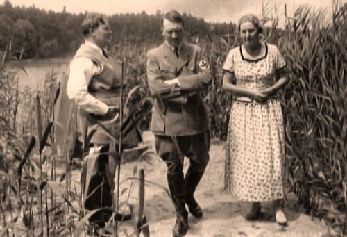 Hitler with Hermann Goering and his wife Emmy.