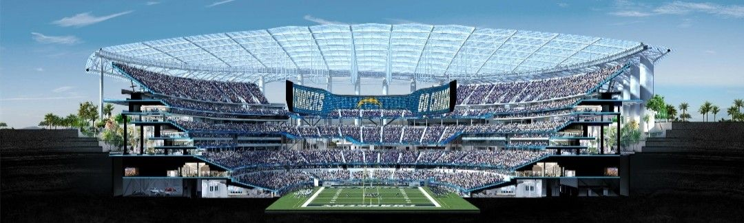 Sofi Stadium Los Angeles Chargers In 2020 Los Angeles Chargers Nfl Stadiums Stadium